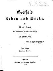 Goethes leben und werke PDF