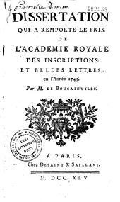 Dissertation qui a remporté le prix de l'Académie royale des inscriptions et belles-lettres en l'année 1745: quels étaient les droits des métropoles grecques sur les colonies...