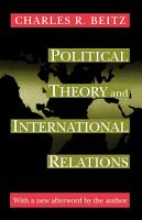 Political Theory and International Relations PDF