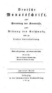Deutsche Monatsschrift (hrsg. von Gottlobnathan Fischer und Friedrich Gentz). Mit Kupfern: Band 41