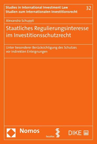 Staatliches Regulierungsinteresse im Investitionsschutzrecht PDF
