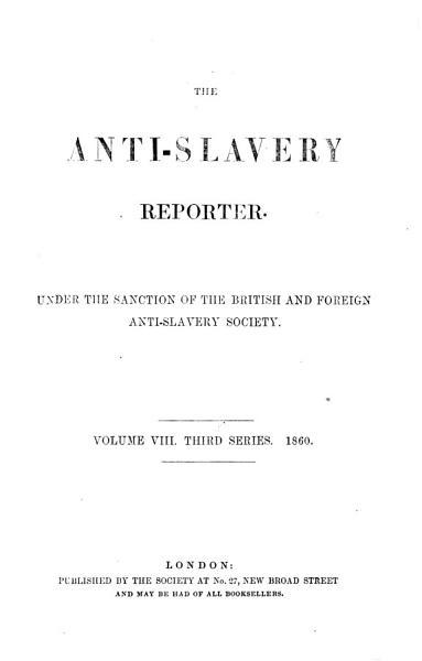 The Anti slavery Reporter PDF