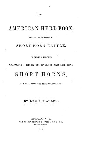 The American Shorthorn Herd Book