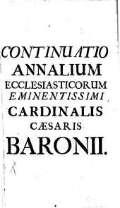 Compendium Annalium Ecclesiasticorum: Incipiens ab Anno 1458. Perveniens usque ad Annum 1503. 19