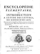 Encyclopédie élémentaire ou introduction à l'étude des lettres, des sciences et des arts: Volume3