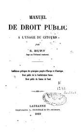 Manuel de droit public à l'usage du citoyen