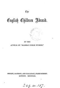 The English children abroad  By the author of  Mamma s Bible stories   PDF