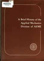A Brief History of the Applied Mechanics Division of ASME PDF