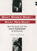What Women Want  What Men Want PDF
