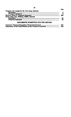 Hearings Before and Special Reports Made by Committee on Armed Services of the House of Representatives on Subjects Affecting the Naval and Military Establishments PDF