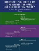 Microsoft Publisher 2019 & Publisher for Office 365 Succinct Companion(TM)