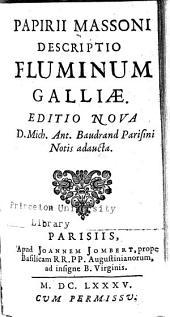 Papirii Massoni Descriptio fluminum Galliae