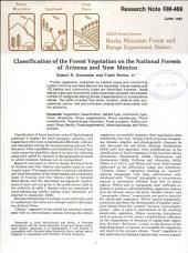 Classification of the forest vegetation on the national forests of Arizona and New Mexico