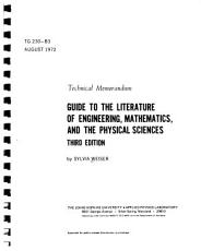 Guide to the Literature of Engineering  Mathematics  and the Physical Sciences PDF