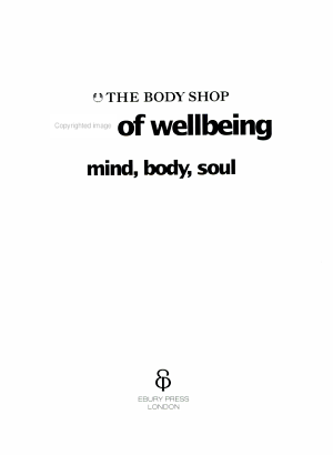 The Body Shop Book of Wellbeing PDF