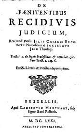 De paenitentibus recidivis judicium