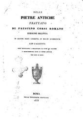 Delle pietre antiche trattato di Faustino Corsi romano