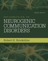 Introduction to Neurogenic Communication Disorders   E Book PDF