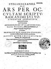 Clavis generalis triplex in libros steganographicos Johannis Trithemij abbatis spanheimensis