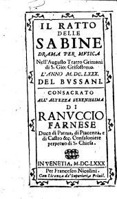 Il ratto delle Sabine. Drama per musica