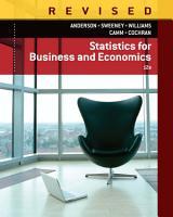 Statistics for Business   Economics  Revised PDF