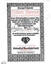 Georgij Scherers Gelinde Antwort, auff die zornige Schmachschrifft, so von Würtenbergischen vermeinten Theologen wider sein catholische Glossa, vber ihr Epistel oder Sendtschreiben an Patriarchen zu Constantinopel, newlichen außgesprengt worden