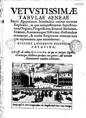 Vetustissimae tabulae aeneae sacris Aegyptiorum simulachris coelatae accurata explicatio...