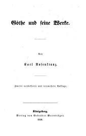 Goethe und seine werke