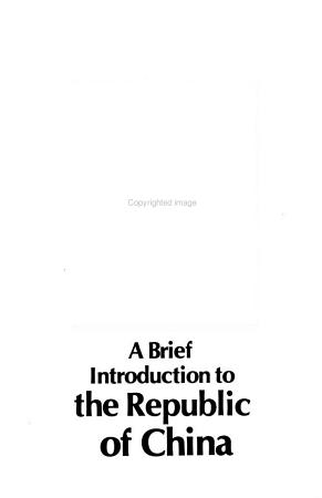 A Brief Introduction to the Republic of China PDF