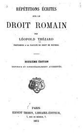 Répétitions écrites sur le droit romain