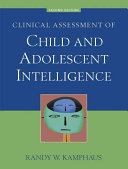 Clinical Assessment of Child and Adolescent Intelligence PDF