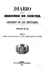 Diario de las sesiones ...: Legislatura ..., Volumen 1
