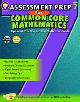 Assessment Prep for Common Core Mathematics  Grade 7 PDF