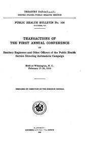 Transactions of the Conference of the Malaria Field Workers