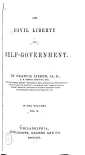 On Civil Liberty and Self-government: Volume 2