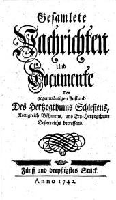Gesamlete Nachrichten Den gegenwärtigen Zustand des Herzogthums Schlesien betreffend: Band 35
