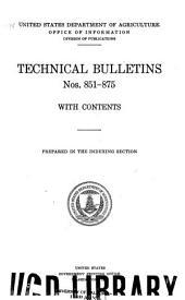 Technical Bulletin: Issues 851-875