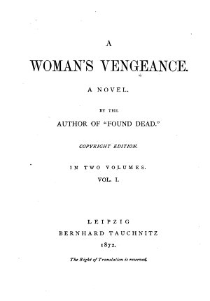 A Woman s Vengeance PDF