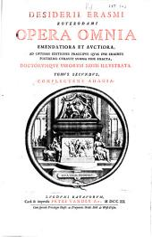 Desiderii Erasmi Roterodami Opera omnia: Volume 2