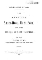 The American Short Horn Herd Book Book PDF