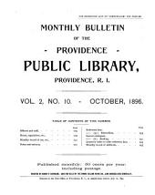 Monthly Bulletin of the Providence Public Library: Volumes 1-2