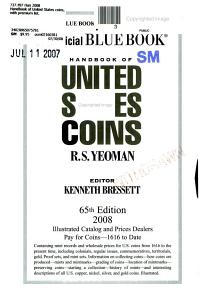 Handbook of United States Coins PDF