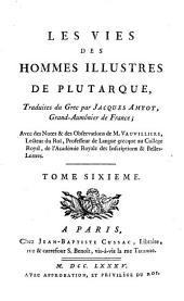 Oeuvres de Plutarque: Volume6