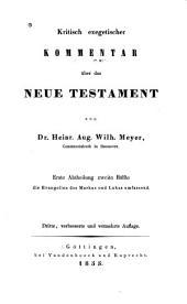 Kritisch-exegetischer kommentar über das Neue Testament