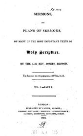 Sermons and plans of sermons, on many of the most important texts of holy Scripture