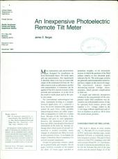 An Inexpensive Photoelectric Remote Tilt Meter