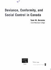 Deviance  Conformity  and Social Control in Canada PDF