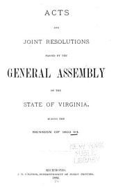 Acts and Joint Resolutions of the General Assembly of the Commonwealth of Virginia