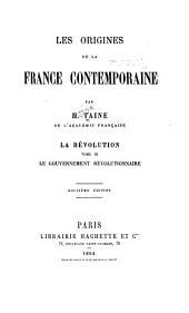 Les origines de la France contemporaine: ptie.] t.1. La régime moderne. 5. éd. 1891. t.2. La régime moderne. 2. éd. 1894. [Index général