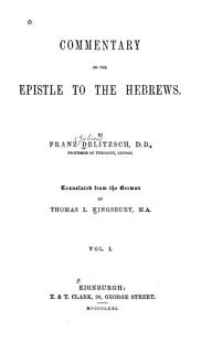 Commentary on the Epistle to the Hebrews Book